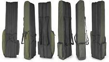 3 tasche 130cm Pesca Borsone borsa bagaglio per costituito aste & MULINELLI Verde Nero