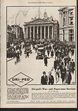 1919 ADVERT DRI-PED SUPER LEATHER FOR SOLES SHOES CITY OF LONDON