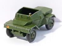 Vintage Play Worn Die Cast Dinky Meccano Toy 673 Scout Car & Driver