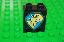 Lego Duplo Ritterburg Wappen Stein 2x2 schwarz mit Löwe Motiv Ritter 4779 4066