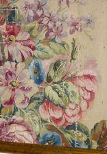 Carton De Tapisserie d'Aubusson, Fleurs, XIX ème (1)