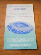 08/12/1976 Oxford v Cambridge United [Inter-Varsity Soccer Match] . No obvious f