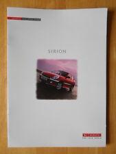 DAIHATSU Sirion orig 2000 UK Market sales brochure