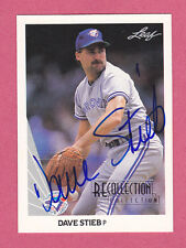 2005 Recollection Collection Leaf 1990 Buyback Dave Stieb Autograph 7/7!