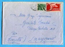 1947 EXP.DEM.£.5 + DEMOCR.£.1 ann.FAENZA, 08.05.47  (257930)