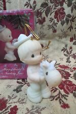 Precious Moments Ornament Happy Trails Is Trusting Jesus Girl with Stick Horse