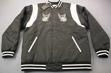 Crooks & Castles Memento Woven Men Black Embroidered Logo Varsity Jacket NWT 2XL