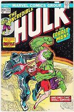 Incredible Hulk #174  Apr 1974  ~vs. Cobalt Man
