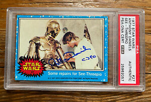 PSA/DNA Anthony Daniels C3PO Autographed 1977 Topps STAR WARS #27