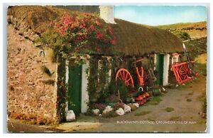 Postcard Blacksmith's Cottage Cregneish Isle of Man posted 1970