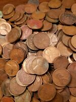 Roll Of Low Quality All Mint Marked 1930's Wheat Cent Pennies