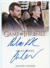 EL Game of Thrones Complete Dual Autograph card of Pilou Asbaek and Anton Lesser