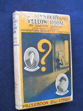 THE MYSTERY OF THE YELLOW ROOM by GASTON LEROUX Early Reprint Edition in Jacket
