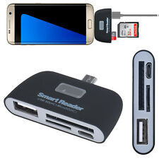micro usb 3 in 1 Memory Card Reader Adapter USB/TF/SD for Samsung Galaxy S7Edge