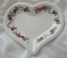 CHAPARRAL USA Red Apple Baking Serving Dish,Heart Pottery,Stonewear,Pie Plate