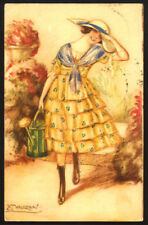cartolina d'epoca-post card-illustratore  MAUZAN-DONNINE,WOMAN,LADY DECO' 4