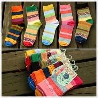 Unisex Stripe Cotton Socks Design Multi-Color Fashion Dress Women's Men's Socks