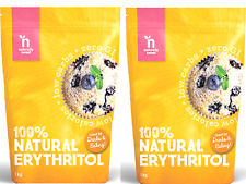2 x 1kg 100% Naturally Sweet Erythritol ( total 2kg ) use as sugar * FREE POST *