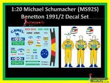 1/20th Michael Schumacher race suit & helmet decal set 1991/92 Camel Benetton