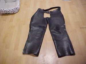 U.S. Chaps & Saddlebags Leather Chaps L/ XL