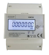 PORTOFREI digitaler Drehstromzähler Stromzähler S0 LCD 100A für DIN Hutschiene