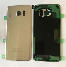 GENUINE SAMSUNG GALAXY S7 EDGE G935F REAR BATTERY COVER & ADHESIVE SILVER NEW