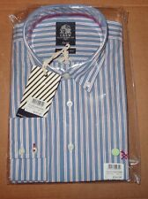 Crew Clothing Mens  Brand New  stripe Shirts-Size L and XL- Sky/white/red