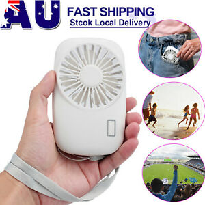 Portable Hand held Mini Fan Personal Battery Operated Rechargeable Pocket Travel