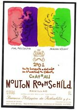 PAUILLAC 1GCC ETIQUETTE CHATEAU MOUTON ROTHSCHILD 2001 6 L EXPORT   §11/04/18§