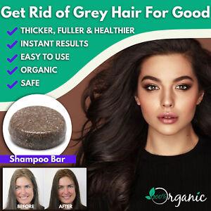 NEW ORGANIC HAIR DYE DARKENING SHAMPOO BAR GREY REVERSE SAFE NATURAL WOMEN QUICK