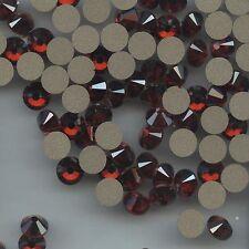 2058 SS34 RM  *** 8 STRASS SWAROVSKI FOND PLAT 7,2mm CRYSTAL  RED MAGMA F