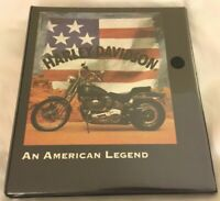 Harley Davidson Motorcycles NOTE BOOK WITH 3 Ring Binder Portfolio Notebook WT