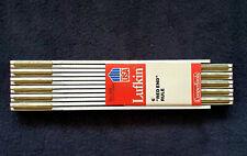 "Lufkin 066 Usa 6� Wood Folding Rule 'Red End' brass joints 5/8"" wide"