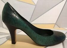 L.K Bennett Green Leather Court Shoes Size 5