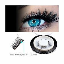 Genation Dual Magnetic False Eyelashes - 3D Reusable Best Fake Lashes - Natur...