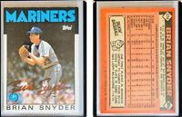 Brian Snyder Signed 1986 Topps #174 Card Seattle Mariners Auto Autograph