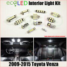 Fits 2009-2015 Toyota Venza WHITE LED Interior Light Accessories Kit 12 Bulbs