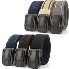 """15 Styles 1.5"""" Mens Nylon Webbing Belt Personality Metal Buckle Trousers Belts"""