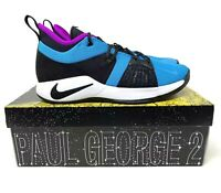 Nike PG 2 Blue Lagoon Paul George Basketball Shoes AJ2039-402 Men's Size 11