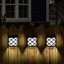 New listing Gigalumi 8 Pack Solar Fence Lights,6 Led Solar Deck Lights,Waterproof Automatic