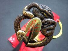 Hand forged clay tempered folded steel blade katana sword snake tsuba sharpened