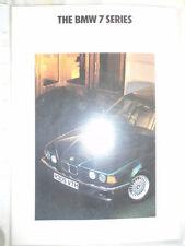 BMW 7 Series range brochure 1991 ed 1