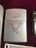 Vintage Zippo lighter Harley Davidson Eagle Brushed Chrome and Never Used