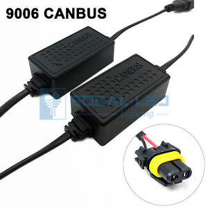 2x NEW HB4 9006 CANBUS LED Decoder HID Error Free Anti-Flickering Load Resistor
