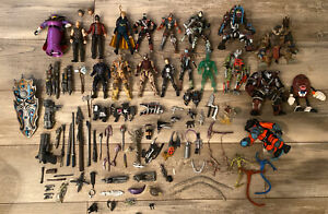 Massive McFarlane Action Figure And Weapons Assescories And Fodder Lot Over 90pc