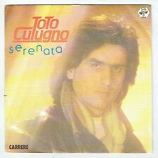 "Toto CUTUGNO Disque Vinyl 45 tours 7"" SP SERENATA - CARRERE 13430 Frais Reduit"