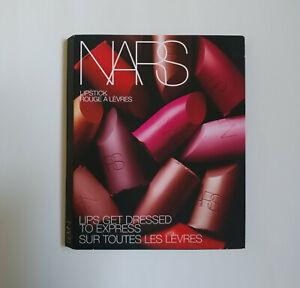 New NARS Lipstick Samples Travel Pack 12 Shades Satin Sheer Matte on Card Wallet