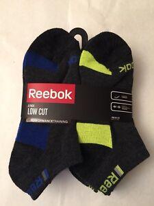 Boy's Reebok Low Cut 6 Pack Socks, Multi color  ( Shoe: 4-10 )
