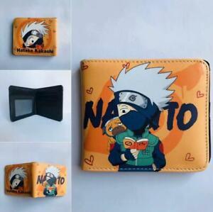 Anime NARUT0 Hatake Kakashi Uzumaki Narut0 Leather Wallet Purse Cosplay Gift