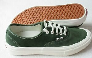 Vans Men's Authentic Pro Wrapped Forest Green Marshmallow Suede shoes Size 9.5